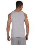 Sport Grey Premium Cotton Tank as seen from the back