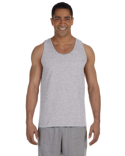 Sport Grey Premium Cotton Tank as seen from the front