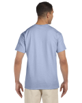 Light Blue Premium Ultra Cotton Pocket T as seen from the back