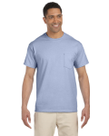 Light Blue Premium Ultra Cotton Pocket T as seen from the front