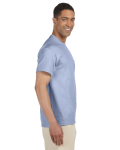 Light Blue Premium Ultra Cotton Pocket T as seen from the sleeveleft