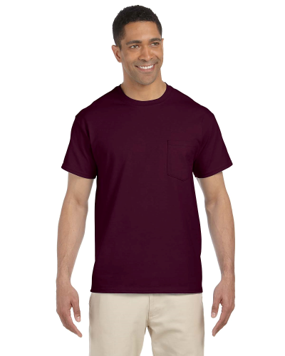 Maroon Premium Ultra Cotton Pocket T as seen from the front