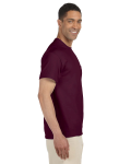 Maroon Premium Ultra Cotton Pocket T as seen from the sleeveleft