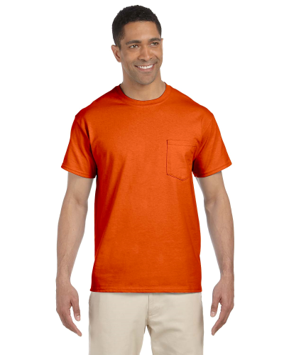 Orange Premium Ultra Cotton Pocket T as seen from the front