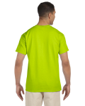 Safety Green Premium Ultra Cotton Pocket T as seen from the back