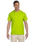 Safety Green Premium Ultra Cotton Pocket T as seen from the front