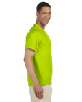 Safety Green Premium Ultra Cotton Pocket T as seen from the sleeveleft