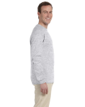 Ash Grey 6.1 oz. Ultra Cotton® Long-Sleeve T-Shirt as seen from the sleeveleft