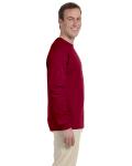 Cardinal Red 6.1 oz. Ultra Cotton® Long-Sleeve T-Shirt as seen from the sleeveleft