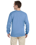 Carolina Blue 6.1 oz. Ultra Cotton® Long-Sleeve T-Shirt as seen from the back
