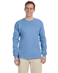 Carolina Blue 6.1 oz. Ultra Cotton® Long-Sleeve T-Shirt as seen from the front
