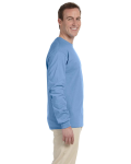 Carolina Blue 6.1 oz. Ultra Cotton® Long-Sleeve T-Shirt as seen from the sleeveleft