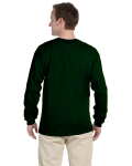 Forest Green 6.1 oz. Ultra Cotton® Long-Sleeve T-Shirt as seen from the back