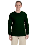 Forest Green 6.1 oz. Ultra Cotton® Long-Sleeve T-Shirt as seen from the front