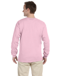 Light Pink 6.1 oz. Ultra Cotton® Long-Sleeve T-Shirt as seen from the back