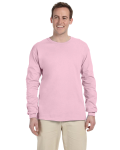 Light Pink 6.1 oz. Ultra Cotton® Long-Sleeve T-Shirt as seen from the front
