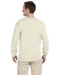Natural 6.1 oz. Ultra Cotton® Long-Sleeve T-Shirt as seen from the back