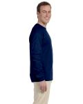 Navy 6.1 oz. Ultra Cotton® Long-Sleeve T-Shirt as seen from the sleeveleft