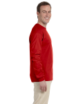 Red 6.1 oz. Ultra Cotton® Long-Sleeve T-Shirt as seen from the sleeveleft