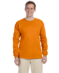 Safety Orange 6.1 oz. Ultra Cotton® Long-Sleeve T-Shirt as seen from the front