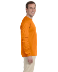 Safety Orange 6.1 oz. Ultra Cotton® Long-Sleeve T-Shirt as seen from the sleeveleft