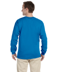 Sapphire 6.1 oz. Ultra Cotton® Long-Sleeve T-Shirt as seen from the back