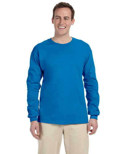 Sapphire 6.1 oz. Ultra Cotton® Long-Sleeve T-Shirt as seen from the front