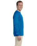Sapphire 6.1 oz. Ultra Cotton® Long-Sleeve T-Shirt as seen from the sleeveleft