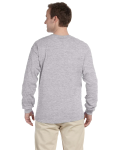 Sport Grey 6.1 oz. Ultra Cotton® Long-Sleeve T-Shirt as seen from the back