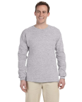 Sport Grey 6.1 oz. Ultra Cotton® Long-Sleeve T-Shirt as seen from the front