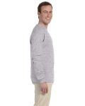 Sport Grey 6.1 oz. Ultra Cotton® Long-Sleeve T-Shirt as seen from the sleeveleft