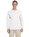 White 6.1 oz. Ultra Cotton® Long-Sleeve T-Shirt as seen from the front