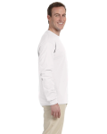 White 6.1 oz. Ultra Cotton® Long-Sleeve T-Shirt as seen from the sleeveleft