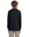 Black Youth 6.1 oz. Ultra Cotton® Long-Sleeve T-Shirt as seen from the back