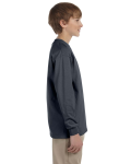 Charcoal Youth 6.1 oz. Ultra Cotton® Long-Sleeve T-Shirt as seen from the sleeveleft