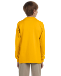 Gold Youth 6.1 oz. Ultra Cotton® Long-Sleeve T-Shirt as seen from the back