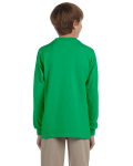 Irish Green Youth 6.1 oz. Ultra Cotton® Long-Sleeve T-Shirt as seen from the back