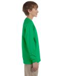 Irish Green Youth 6.1 oz. Ultra Cotton® Long-Sleeve T-Shirt as seen from the sleeveleft