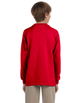 Red Youth 6.1 oz. Ultra Cotton® Long-Sleeve T-Shirt as seen from the back