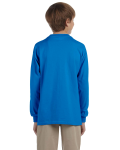 Sapphire Youth 6.1 oz. Ultra Cotton® Long-Sleeve T-Shirt as seen from the back