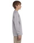 Sport Grey Youth 6.1 oz. Ultra Cotton® Long-Sleeve T-Shirt as seen from the sleeveleft