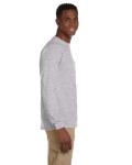 Sport Grey Ultra Cotton® 6 oz. Long-Sleeve Pocket T-Shirt as seen from the sleeveleft