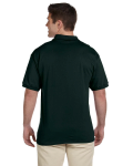 Forest Green Ultra Cotton® 6 oz. Jersey Polo as seen from the back