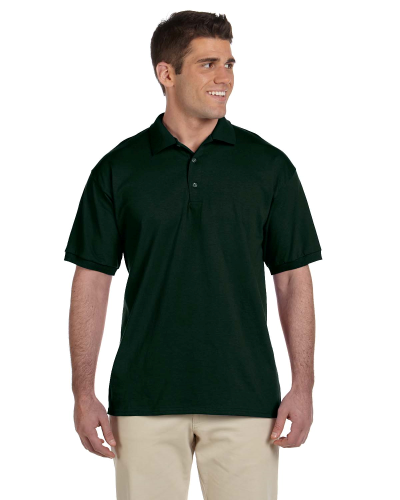Forest Green Ultra Cotton® 6 oz. Jersey Polo as seen from the front