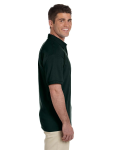 Forest Green Ultra Cotton® 6 oz. Jersey Polo as seen from the sleeveleft