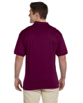 Maroon Ultra Cotton® 6 oz. Jersey Polo as seen from the back