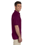 Maroon Ultra Cotton® 6 oz. Jersey Polo as seen from the sleeveleft
