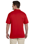 Red Ultra Cotton® 6 oz. Jersey Polo as seen from the back