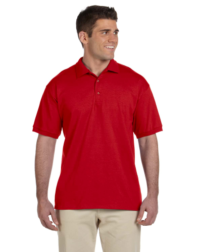 Red Ultra Cotton® 6 oz. Jersey Polo as seen from the front