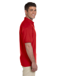 Red Ultra Cotton® 6 oz. Jersey Polo as seen from the sleeveleft
